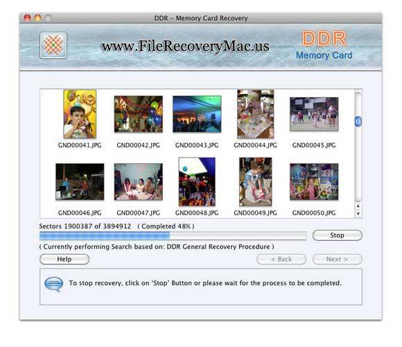 Screenshot of Photo Recovery Software Mac